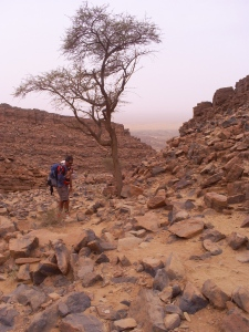 Climbing up the jebel